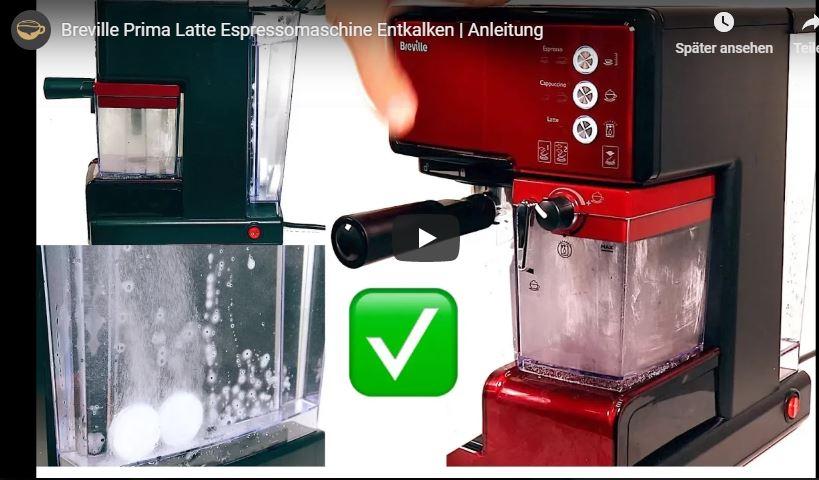 Entkalken der Breville LattePrima Espressomaschine