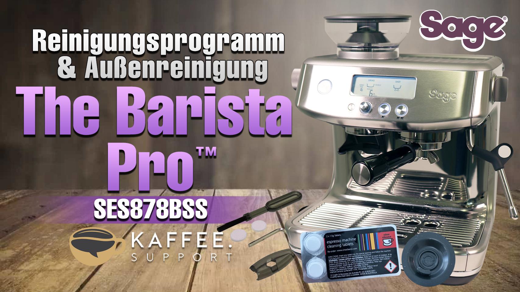 Sage The Barista Pro™ SES878BSS Reinigungsprogramm & Außenreinigung